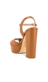 Stuart Weitzman Soliesse Platform Tan ~ chunky brown platforms ~ block heel sandal