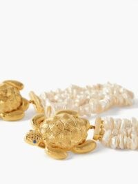 BEGUM KHAN Tortuga Florence 24kt gold-plated clip earrings ~ turtle jewellery ~ turtles ~ inspired by the sea