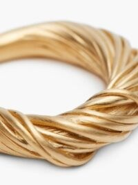 COMPLETEDWORKS Twisted Phone Charger Cables gold-vermeil ring | gold vermeil twist detail rings