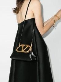 Valentino Garavani medium Supervee clutch bag in black ~ vintage shape bags