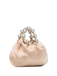 Vanina Juliette silk-satin tote bag / small bead embellished top handle bags
