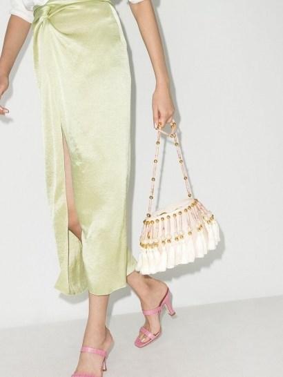 Vanina Palais Royal shoulder bag / pearl and tassel embellished bags - flipped