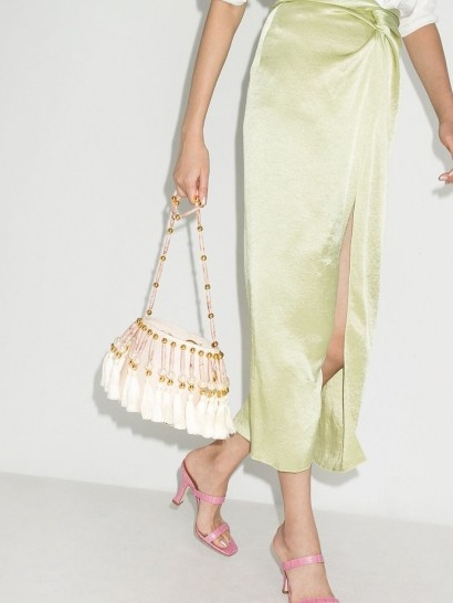 Vanina Palais Royal shoulder bag / pearl and tassel embellished bags