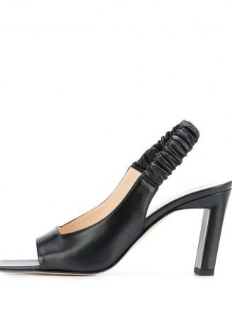 Wandler Isa slingback sandals in black / square open toe slingbacks - flipped