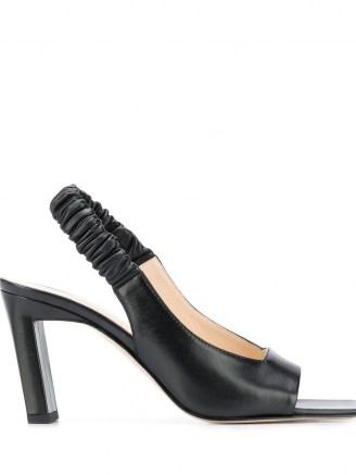 Wandler Isa slingback sandals in black / square open toe slingbacks