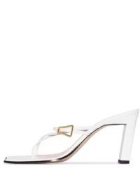 Wandler Yara 85 strap sandals / strappy white leather square toe sandal ❤️