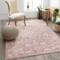Dazzle Power Loom Pink/White Rug See More by Well Woven