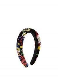 SHRIMPS William beaded floral velvet headband – bead embellished headbands