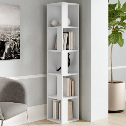 Corner Bookcase by Zipcode Design – stylish designs for your home - flipped