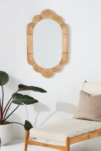 ANTHROPOLOGIE Skylar Mirror ~ handcarved wood frame mirrors ~ scalloped frames ~ home furnishings