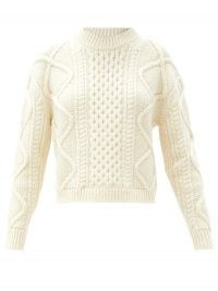 OFFICINE GÉNÉRALE Alizee cable-knit sweater   boxy crew neck sweaters   chunky knitwear