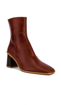 ALOHAS West Bootie | brown leather square toe boots