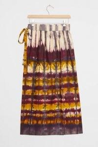 TINY Heidi Tie-Dye Wrap Maxi Skirt Purple Motif
