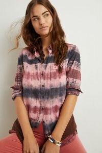 Pilcro Janesse Tie-Dye Buttondown / casual shirts