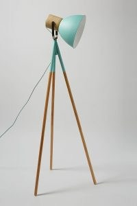 ANTHROPOLOGIE Adina Floor Lamp Mint ~ contemporary tripod lamps ~ modern style home lighting