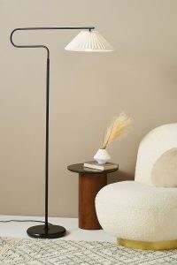 ANTHROPOLOGIE Harriet Pleated Floor Lamp Black ~ modern lighting for the home ~ stylish lamps