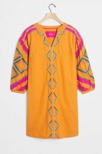 Stasiana Embroidered Tunic Dress / orange tunics