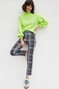 ANTHROPOLOGIE The Essential Slim Trousers / plaid pants / checked / check print fashion