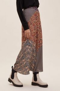 Kachel Julia Mixed Print Maxi Skirt / mixed prints / paisley printed skirts