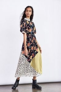 Verb by Pallavi Singhee Soniya Embroidered Maxi Dress / mixed print dresses / animal and floral prints