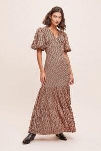 Second Female Sandra Maxi Dress / tiered balloon sleeve dresses / floral prints