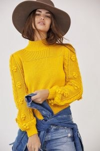 Maeve Kiara Textured Sweater / pretty yellow jumpers