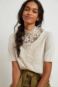 TINY Celine Lace Top / high neck tops / victorian style neckline