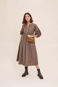 Beaumont Organic Cotton Mel Dress / check print dresses