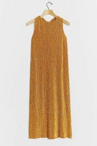 Leifsdottir Livnah Velvet Midi Dress in Copper / glamorous evening dresses