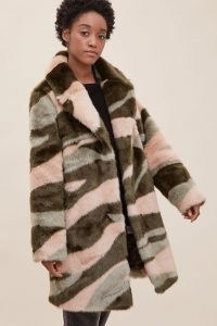 ANTHROPOLOGIE Merida Marble Fur Coat / faux fur winter coats