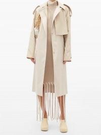 BOTTEGA VENETA Belted cotton-gabardine trench coat | beige raincoats | autumn coats