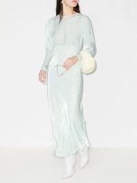 Bernadette Jane gingham maxi dress / blue and white checked dresses