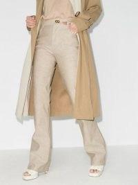 Bottega Veneta bootcut jeans | designer beige denim