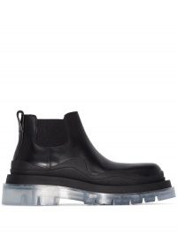 Bottega Veneta transparent-sole chunky ankle boots ~ clear thick soles ~ casual winter footwear