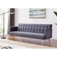 Clementine 3 Seater Clic Clac Sofa Bed by Canora Grey – chic style for your lounge or spare room