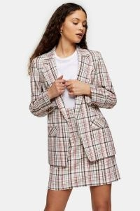 Topshop Check Skirt Suit | checked skirts | suits