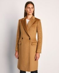 JIGSAW CLARENCE CITY DB COAT / camel coats / brown autumn winter outerwear