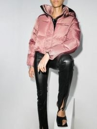 Daily Paper cropped puffer jacket in pink | stylish padded winter jackets