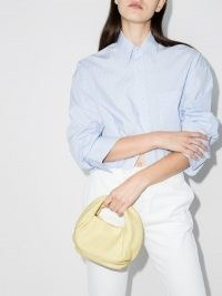 Danse Lente Yellow Lola Leather Mini Tote Bag ~ small luxe handbag