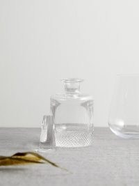 RICHARD BRENDON Diamond small crystal decanter ~ hand-cut glass decanters