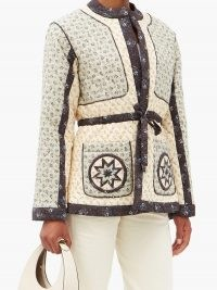 SEA Ditsy quilted cotton-blend poplin jacket ~ floral jackets