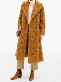 VIKA GAZINSKAYA Double-breasted mohair coat ~ shaggy brown winter coats