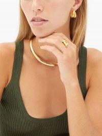 SOPHIE BUHAI Double-hoop 18kt gold-vermeil earrings | smooth and textured hoops