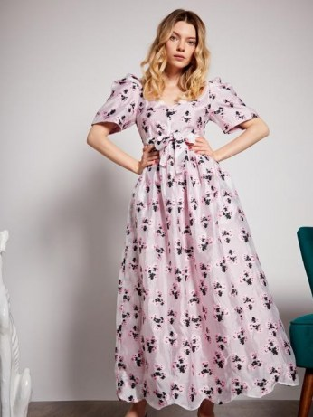 sister jane First Dance Maxi Dress ~ pink floral dresses - flipped