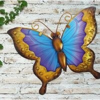 Butterfly Glass Wall Décor by East Urban Home – make your garden special