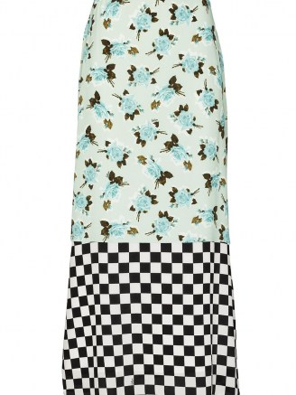 Erdem Vaughn dual-pattern skirt / mixed print skirts / florals & checks
