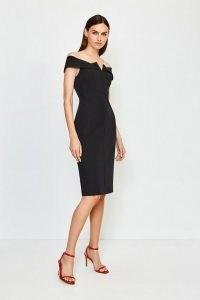 KAREN MILLEN Black Forever Bardot Dress Black / LBD / evening wardrobe essentials