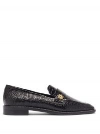 FABRIZIO VITI Forever crocodile-effect leather loafers ~ black croc embossed loafer