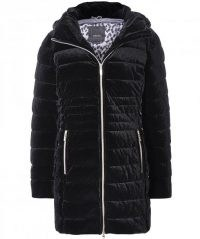 GEOX Felyxa Long Quilted Jacket ~ stretch velvet winter coats