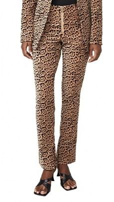 Good American Velvet Leopard Suit Pants / animal print trousers / suits - flipped